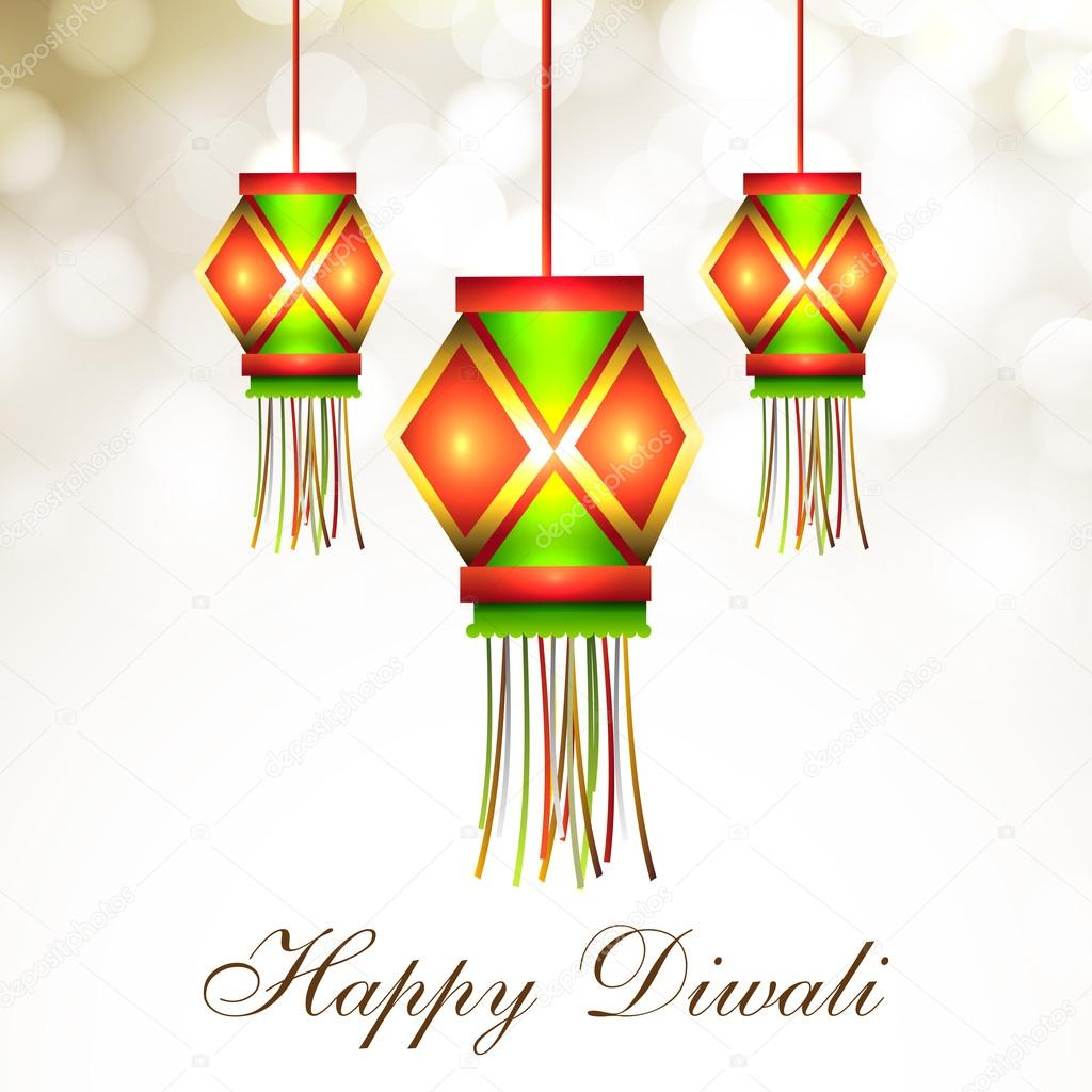 Hanging Lamp For Diwali Festival In India EPS 10 Stock