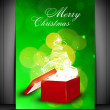Merry Christmas greeting card or gift card with sparkling Xmas t — Stock Vector #13925645