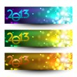 New year website header and banner set. EPS 10. — Stock Vector #13925756