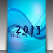 Greeting card or gift card for 2013 Happy New Year celebration. — Stock Vector #13925849