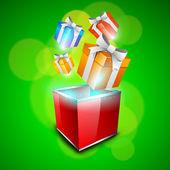 Geschenk dozen achtergrond voor merry christmas celebration. eps 10. — Stockvector