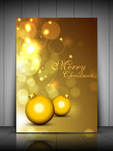 Merry Christmas greeting card, gift card and invitation card dec — Stock Vector