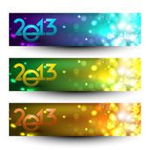 New year website header and banner set. EPS 10. — Stock Vector