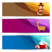 Website Headers or Banners for Christmas celebration. EPS 10 — Stock Vector