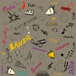 Stylized retro musical background. EPS 10. — Stock Vector
