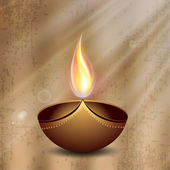 Grußkarte für diwali-fest in indien. eps 10. — Stockvektor