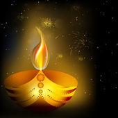 在印度排灯节节日贺卡。10 eps. — 图库矢量图片