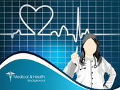Cardiogram with red heart shape on black background. EPS 10. — Stock Vector