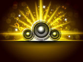 Abstract musical party background. EPS 10. — Stock Vector