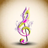 Abstract musical note. EPS 10. — Stock Vector