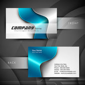 Professional and designer business card set or visiting card set — Vettoriale Stock