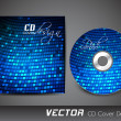 Stylized CD Cover design template. EPS 10. - Imagen vectorial