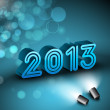 Stylized 2013 Happy New Year background. EPS 10. — Image vectorielle