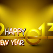 Stylized golden 2013, New Year celebration background. EPS 10. — Stock Vector