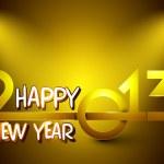 Stylized golden 2013, New Year celebration background. EPS 10. — Stock Vector