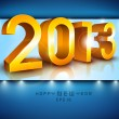 Stylized 2013 Happy New Year background. EPS 10. — Imagen vectorial