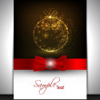 Happy New Year and Merry Christmas celebration, greeting card, g — Stock Vector