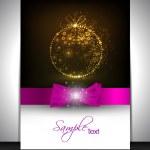 Feliz año nuevo y feliz celebración de Navidad, tarjetas de felicitación, g — Vector de stock