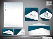 Identité corporative professionnelle kit ou kit de business pour votre bus — Vecteur