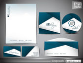 Professional corporate identity kit or business kit for your bus — Cтоковый вектор