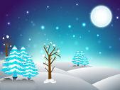 Christmas winter night. EPS 10. — Stock Vector