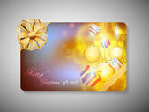 Gift card for Merry Christmas celebration. EPS 10. — Stock Vector