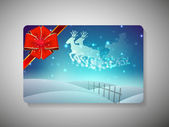 Gift card for Merry Christmas celebration. EPS 10. — Stock Vector