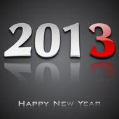 Sfondo di felice anno nuovo 2013 stilizzato. Eps 10. — Vettoriale Stock