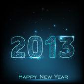 Gestileerde 2013 gelukkig nieuwjaar achtergrond. eps 10. — Stockvector