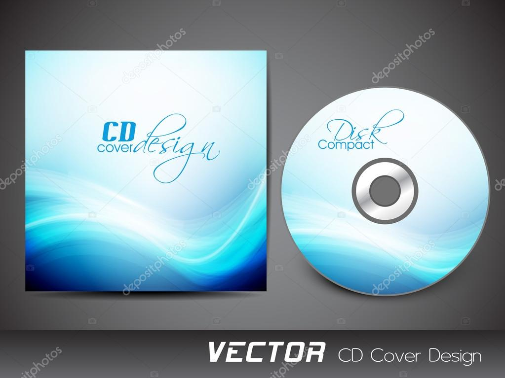 Stylized CD Cover design template. EPS 10. — Stock Vector ...
