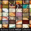 Stock Vector: MegCollection Abstract Vector Retro Business Cards set in vari