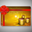 Gift card for Deepawali or Diwali festival in India. EPS 10. - Imagen vectorial