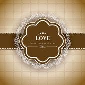 Láska pozadí textu. eps 10. — Stock vektor
