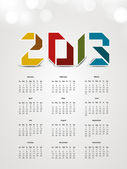 2013 year calender. EPS 10. — Stock Vector