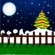 Christmas winter night. EPS 10. — Stock Vector