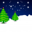 Christmas winter night. EPS 10. - Stock Vector