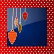 Vintage background for Merry Christmas greeting card. EPS 10.  — Stok Vektör