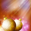 Beautiful Xmas balls on snowflakes background for Merry Christma — Stock Vector #14917241