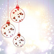 Beautiful Xmas balls on snowflakes background for Merry Christma — Stock Vector #14917373