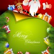 Beautiful Merry Christmas greeting card or gift card with Santa — Stock Vector
