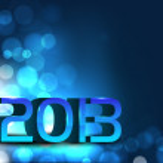 sfondo di felice anno nuovo 2013 stilizzato. EPS 10 — Vettoriale Stock