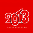 Stylized 2013 Happy New Year background. EPS 10 — Vector de stock #14917599