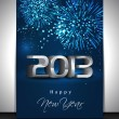 Greeting card or gift card for Happy New Year celebration. EPS 1 — Stock Vector