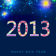 Stylized 2013 Happy New Year background. EPS 10  — Grafika wektorowa