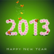 Stylized 2013 Happy New Year background. EPS 10 — 图库矢量图片