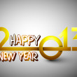 Royalty-Free Stock Vector: Stylized 2013 Happy New Year background. EPS 10