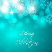 Płatki śniegu z Boże Narodzenie Kula do merry christmas karty okolicznościowe, gif — Wektor stockowy