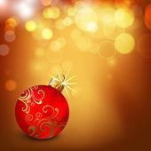 Decorative Xmas balls on shiny snowflakes background for Merry C — Stock Vector
