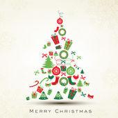 Piękne drzewo xmas wesołe święto bożego narodzenia. eps 10. — Wektor stockowy