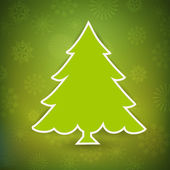 Beautiful Xmas tree for Merry Christmas celebration. EPS 10. — Stock Vector